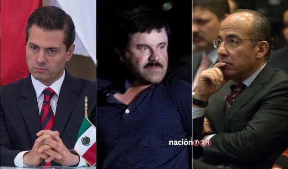 Peña Nieto, El Chapo Guzmán, Felipe Calderón