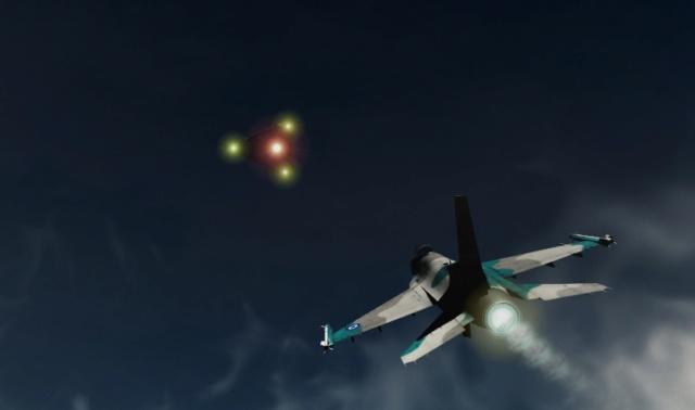 Ovni y un F16