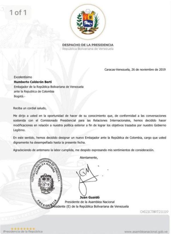 Para tapar robo de ayuda humanitaria: Guaidó saca del juego a Calderón Berti Calder11