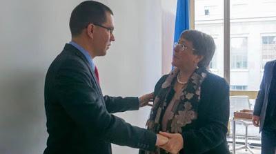 Jorge Arreaza, Michelle Bachelet