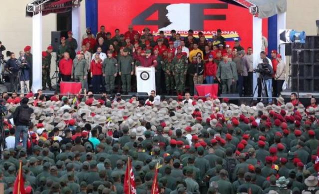Nicolás Maduro, FANB y Milicianos