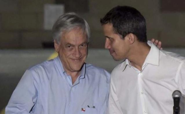 Piñera, Guaidó