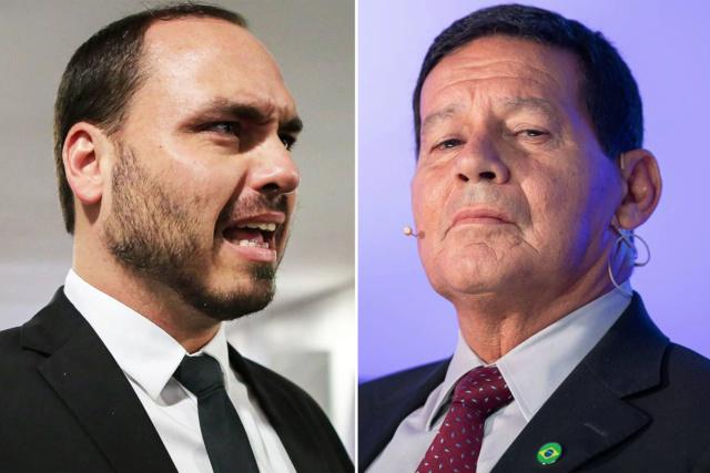 Hijo de Bolsonaro arremete contra el Vicepresidente Mourao