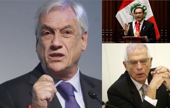Sebastian Piñera, Martín Vizcarra, Josep Borrell