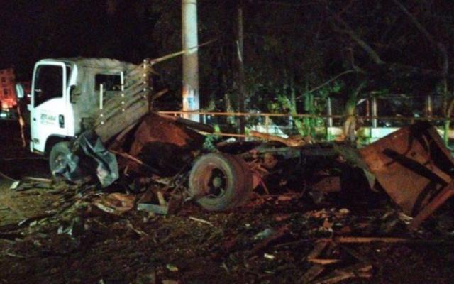 Ataque con un camión bomba contra estación de la Policía Nacional en Colombia