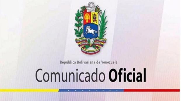 Comunicado Gobierno de Venezuela