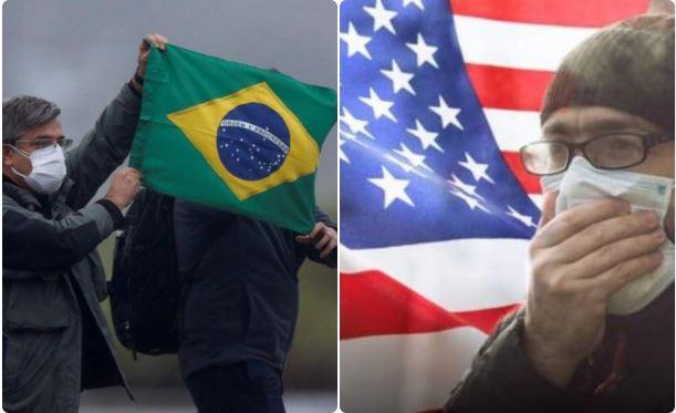 Coronavirus en Brasil y Estados Unidos