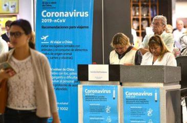 Coronavirus llega a Chile y Argentina
