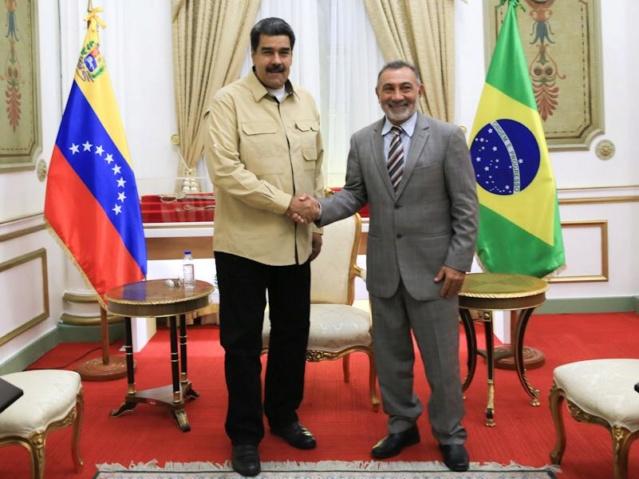 Nicolás Maduro y Telmario Mota