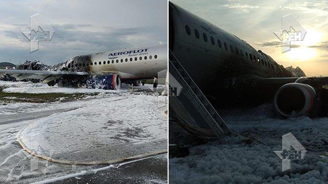 41 fallecidos al incendiarse un avión de pasajeros tras aterrizar de emergencia en un aeropuerto de Rusia
