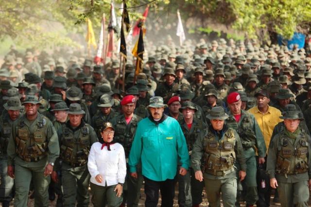 Presidente Nicolás Maduro, Militares venezolanos