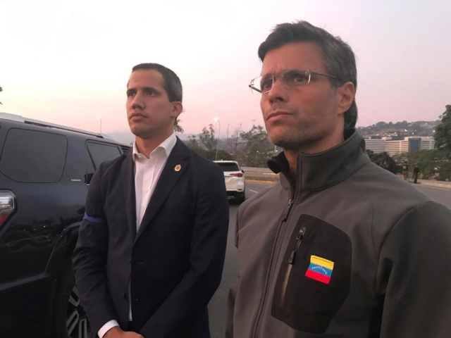 Juan Guiadó y Leopoldo López
