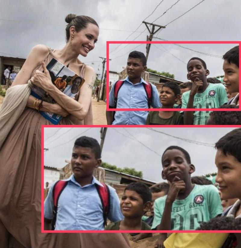 Impactantes imágenes de Angelina Jolie anoréxica mientras visitaba frontera colombo-venezolana D8mowq11