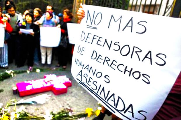 Asesinatos de lideres de DDHH en Colombia