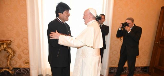 El Papa Francisco recibió gratamente la visita del Presidente boliviano Evo Morales Dg899010