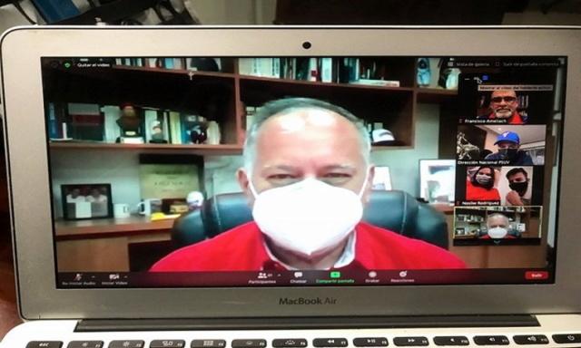 Diosdado Cabello en videoconferencia