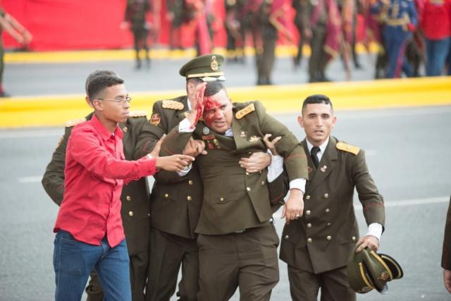 Confirman siete oficiales de la GNB heridos tras el atentado contra Nicolás Maduro Djyx0710