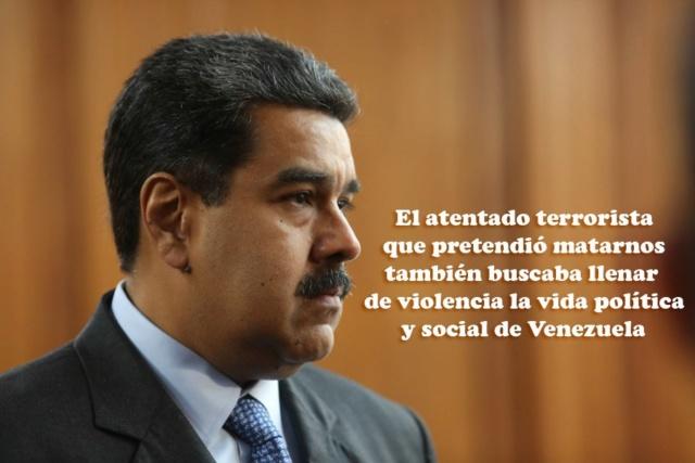 (Vídeos) Maduro ofreció detalles y pruebas del atentado con drones en su contra Dkc7th10