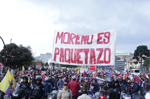 Protestas contra Lenin Moreno en Quito