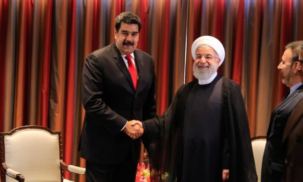 Nicolás Maduro y Hassan Rohani