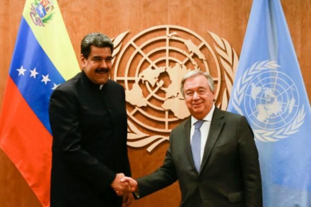 Nicolás Maduro y António Guterres