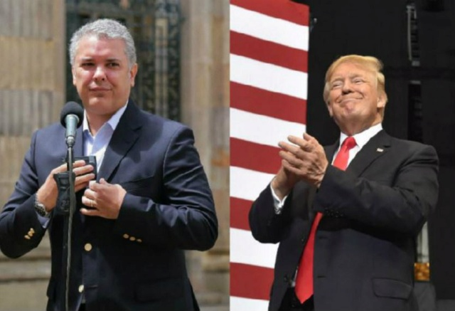 Iván Duque y Donald Trump