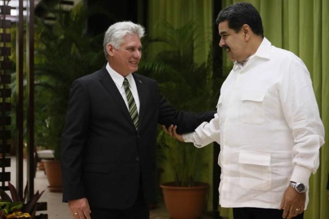 Díaz Canel y Nicolás Maduro