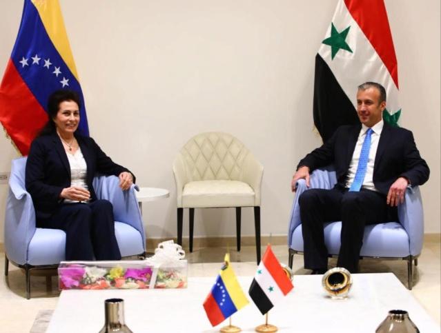 Tareck El Aissami y Salwa Abdallah, Venezuela y Siria