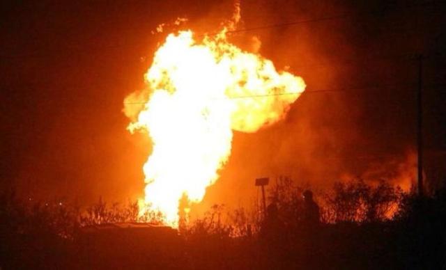 Explosión de un oleoducto en México