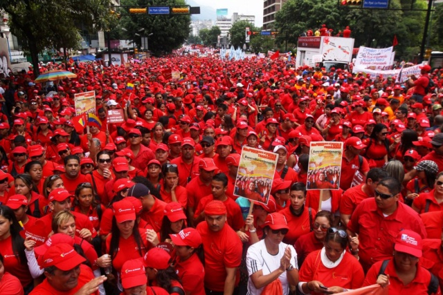 Marcha petrolera en Venezuela