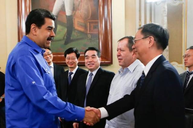 Presidente Nicolás Maduro y los Chinos