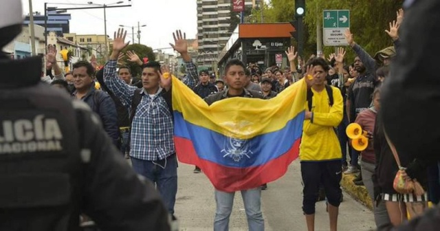 movilizaciones en rechazo a medidas económicas de Moreno en Ecuador