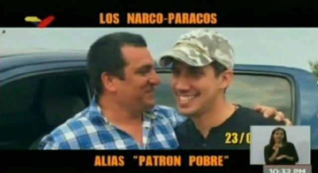 Guaidó junto a narcotraficantes colombianos
