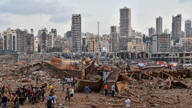 Explosiones destruyen parte de Beirut