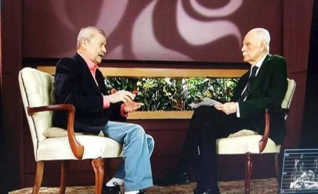 Eleazar Díaz Rangel y José Vicente Rangel