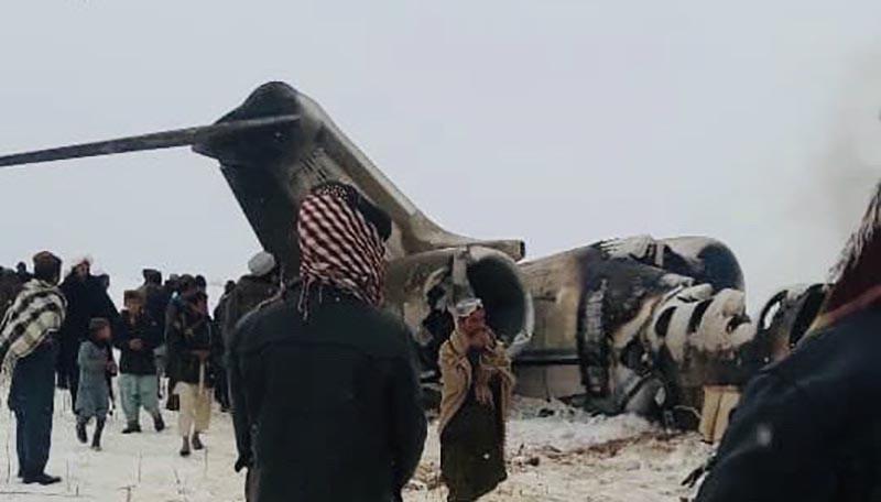 Avión militar estrellado en Afganistán