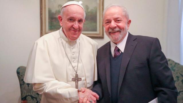 El Papa Francisco y Lula Da Silva