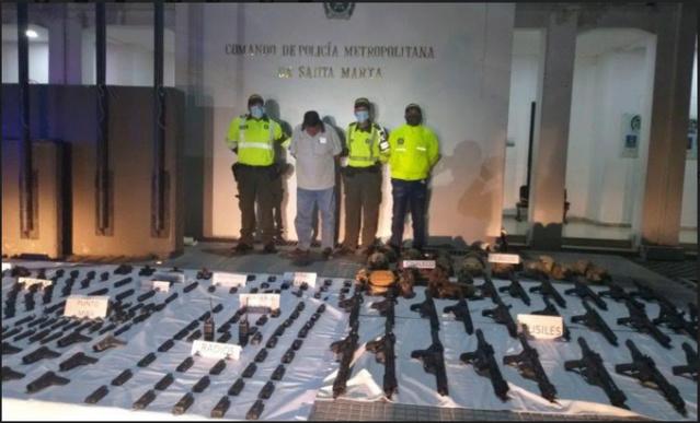 Incautación de armas en Colombia