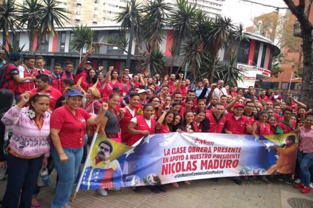 Transportistas con Maduro