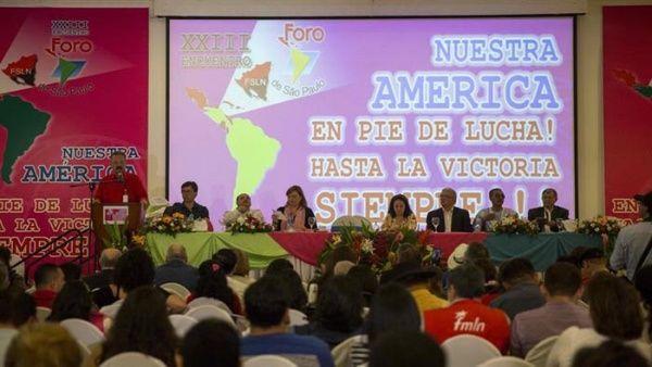 En el Foro de Sao Paulo llaman a defender a Venezuela, Nicaragua y el pueblo de Brasil Foro_e10