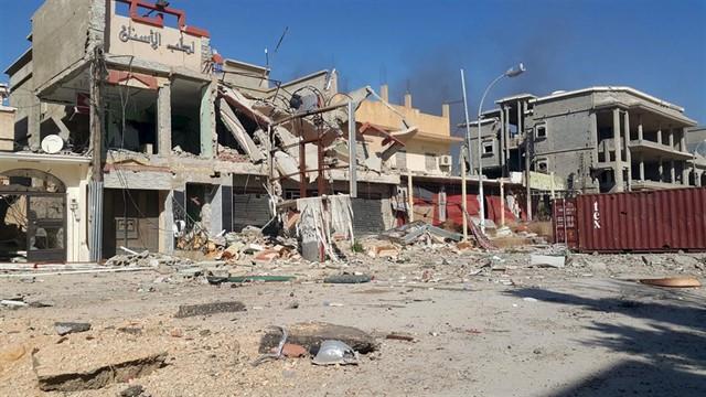 Destrucción en Libia