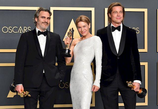 Joaquin Phoenix, Renée Zellweger, Brad Pitt, Oscars 2020