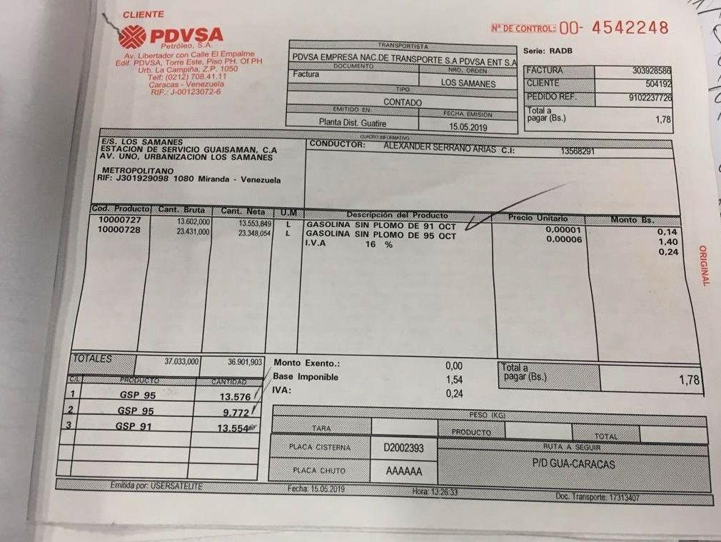 El insólito precio de una gandola de gasolina en Venezuela: Menos de 2 bolívares Gasoli11