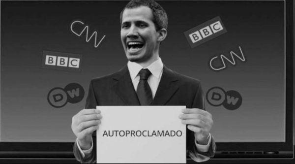 El autoproclamado Juan Guaidó