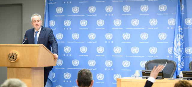 El portavoz de la ONU, Stéphane Dujarric