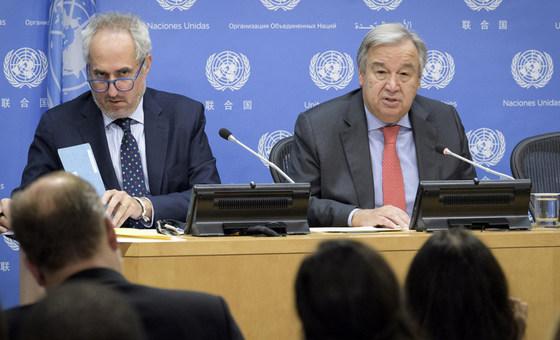 Secretaría General de la ONU, Stéphane Dujarric