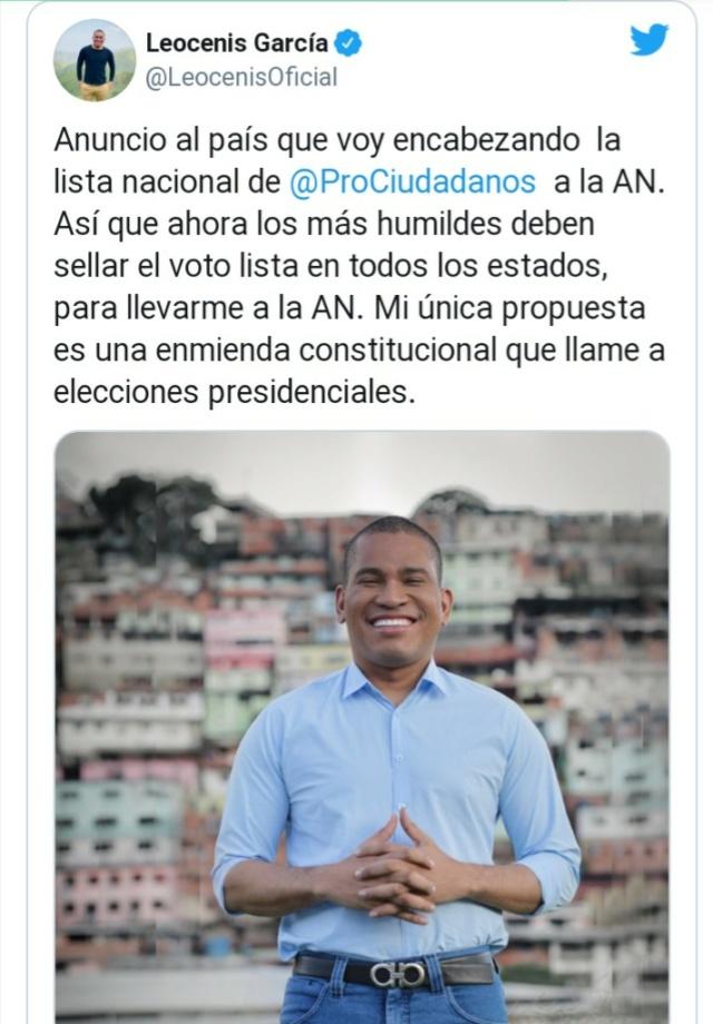"""Leocenis García anuncia su candidatura a diputado de la AN: """"Voy por la lista nacional"""" Img_2016"""