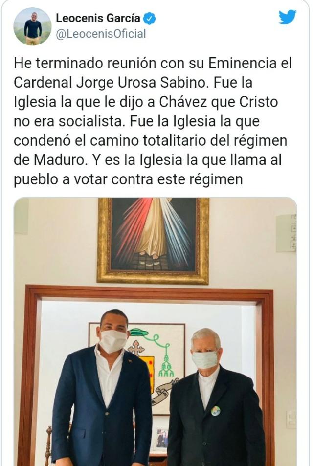 Leocenis García se reunió con el Cardenal Urosa Sabino: La iglesia llama al pueblo a votar en parlamentarias Img_2017