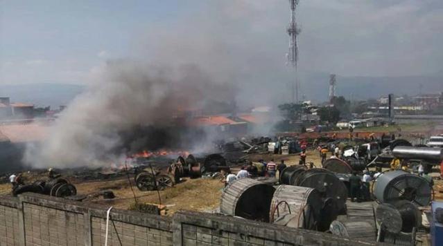 Incendio en Cantv Táchira