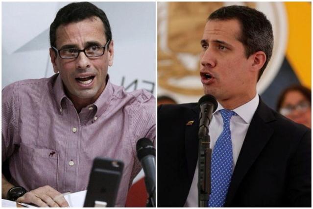 Capriles y Juan Guaidó